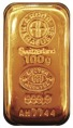 Gold 100 G Swiss Bar