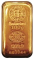 Gold 100 G Cast Bar 9999