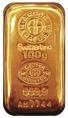 Gold 100 G Cast Bar 9999